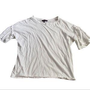 !! 3 for $20!! White ruffle t-shirt